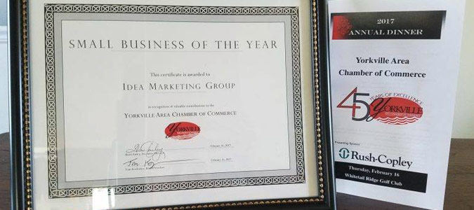 Small Business of the Year Idea Marketing Group